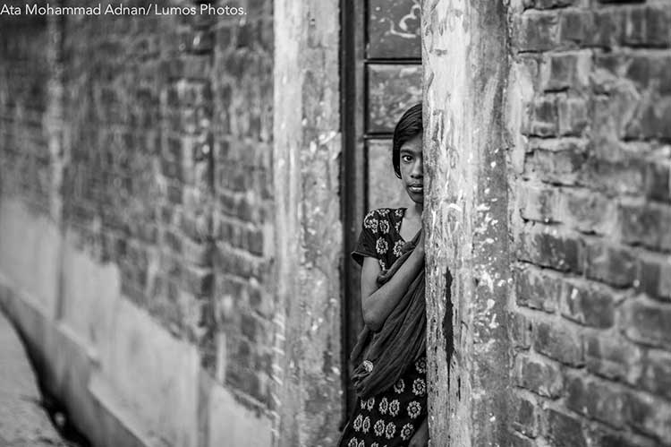A shy neighbour who couldnt express her wish to be photographed
