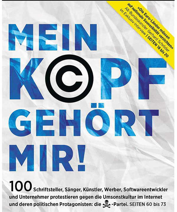 Creative Germans fight in public for Copyright