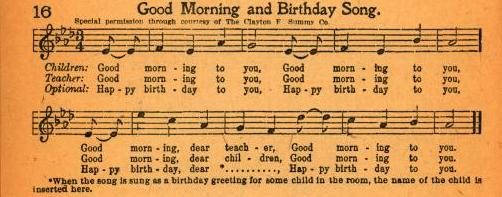 An image of the first publication of the song along with musical notes